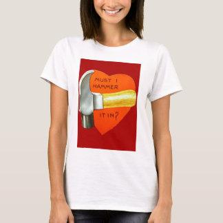 Vintage Retro Hammer Valentine Card T-Shirt