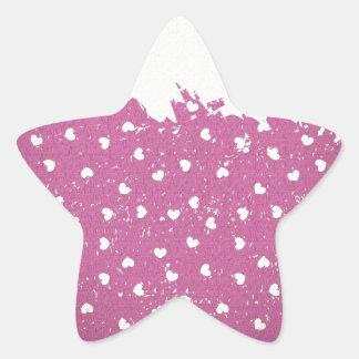 Vintage retro heart purple patterns star sticker