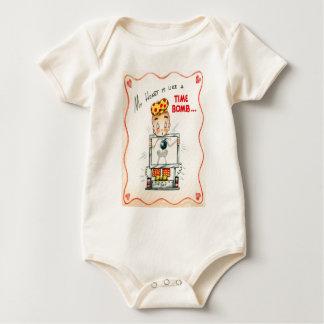 Vintage Retro Heart Xray Valentine Card Baby Bodysuit
