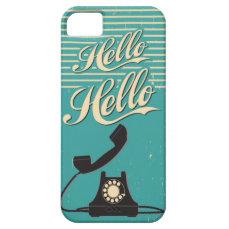Vintage Retro Hello iPhone 5 5S Case