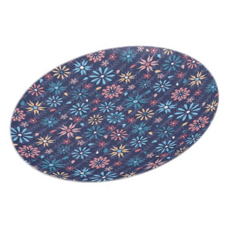 Vintage retro hippy floral pattern dinner plate