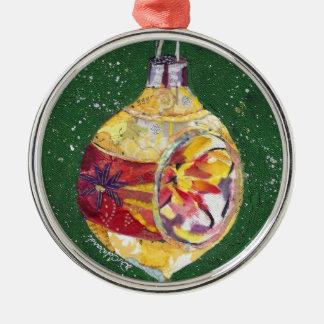 Vintage retro holiday ornament collage art