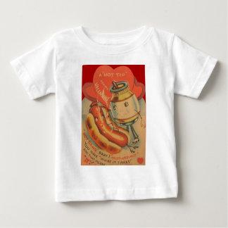 Vintage Retro Hot Dog Mustard Valentine Card Baby T-Shirt