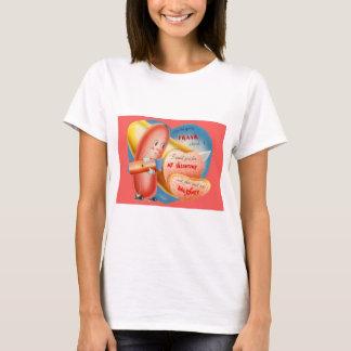 Vintage Retro Hot Dog Slicing Baloney Valentine T-Shirt
