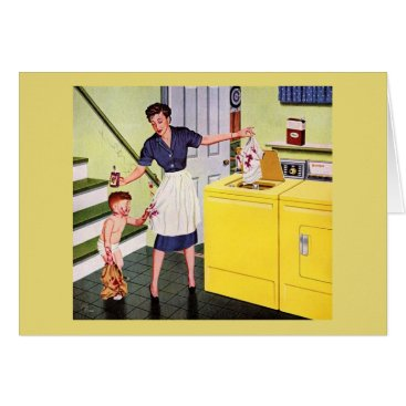 Vintage - Retro Housewife's Day of Disasters, Card