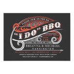 Vintage Retro I Do BBQ Invitations