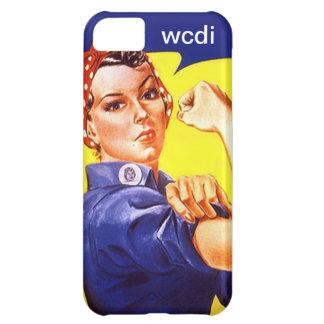 Vintage Retro iPhone 5 Rosie the Riveter wcdi txt iPhone 5C Cases