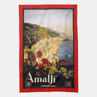 Vintage retro Italian poster Kitchen Towels