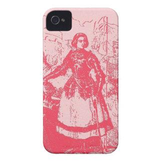 Vintage Retro Joan Of Arc Pink iPhone 4 Case