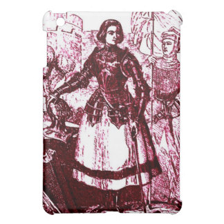Vintage Retro Joan Of Arc Pink Wine Design Cover For The iPad Mini