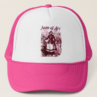 Vintage Retro Joan Of Arc Pink Wine Design Trucker Hat