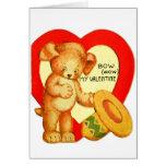 Vintage Retro Kids Valentine Bow Wow Puppy Cards