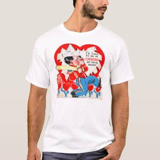Vintage Retro Kids Valentine Command Your Heart T-Shirt