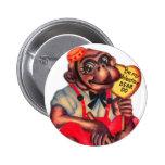 Vintage Retro Kitsch 30s Valentine Chimp Dear Do Pinback Buttons