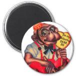 Vintage Retro Kitsch 30s Valentine Chimp Dear Do Refrigerator Magnet