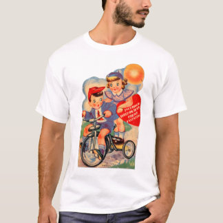 Vintage Retro Kitsch 30s Valentine Girl and Boy T-Shirt