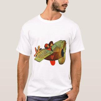 Vintage Retro Kitsch 30s Valentine Girls Airplane T-Shirt