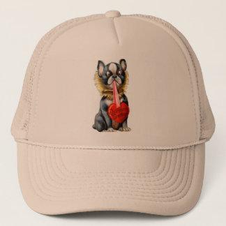 Vintage Retro Kitsch 30s Valentine Greetings Dog Trucker Hat