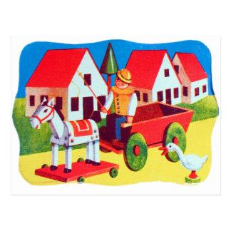 Vintage Retro Kitsch 30s Wood Toy Children's Art Postcards
