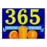Vintage Retro Kitsch 365 Oranges Fruit Label Art Card