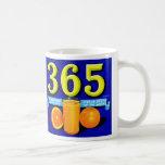 Vintage Retro Kitsch 365 Oranges Fruit Label Art Coffee Mug