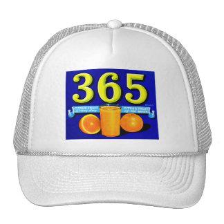 Vintage Retro Kitsch 365 Oranges Fruit Label Art Trucker Hat