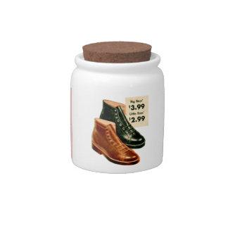 Vintage Retro Kitsch 40s Boys Boots Ad Catalog Art Candy Jars
