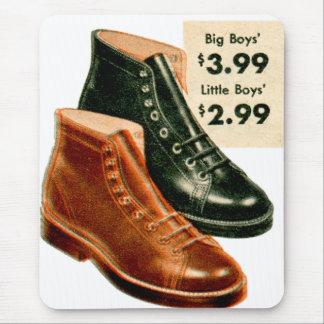 Vintage Retro Kitsch 40s Boys Boots Ad Catalog Art Mouse Pad