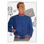 Vintage Retro Kitsch 40s Catalog Men's Jacket Greeting Card
