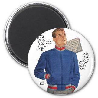 Vintage Retro Kitsch 40s Catalog Men's Jacket Magnet