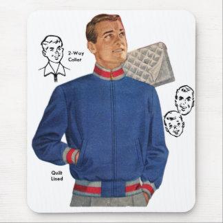 Vintage Retro Kitsch 40s Catalog Men's Jacket Mouse Pad