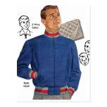 Vintage Retro Kitsch 40s Catalog Men's Jacket Postcards