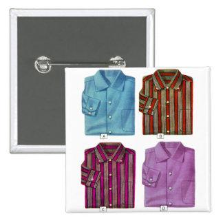 Vintage Retro Kitsch 40s Men's Shirts Catalog Art Pinback Button