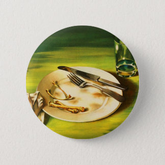 Vintage Retro Kitsch 40s Poster Food is a Weapon Button