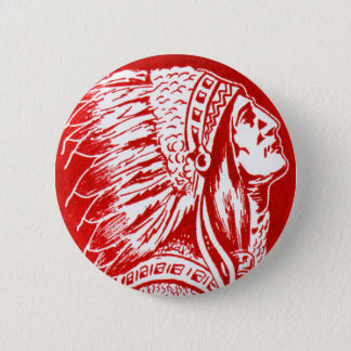Vintage Retro Kitsch 40s Travel Indian Chief Head Pinback Button