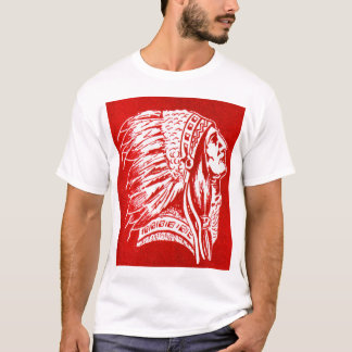 Vintage Retro Kitsch 40s Travel Indian Chief Head T-Shirt