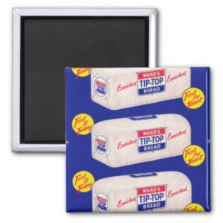 Vintage Retro Kitsch 40s Wards Tip Top Bread Magnet