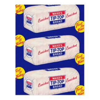 Vintage Retro Kitsch 40s Wards Tip Top Bread Postcard