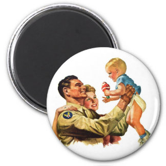 Vintage Retro Kitsch 40s Welcome Home Daddy Magnet