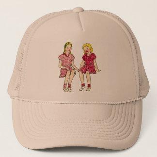 Vintage Retro Kitsch 50s Coloring Book Art Trucker Hat