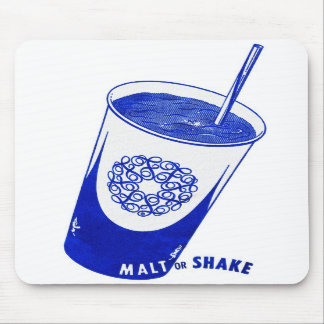 Vintage Retro Kitsch 50s Malt or Shake Cup Mouse Pads