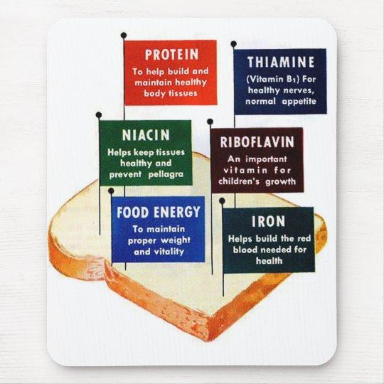 Vintage Retro Kitsch 50s Nutritious White Bread Mouse Pad