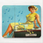Vintage Retro Kitsch 50s Rock and Roll Radio Mouse Pads