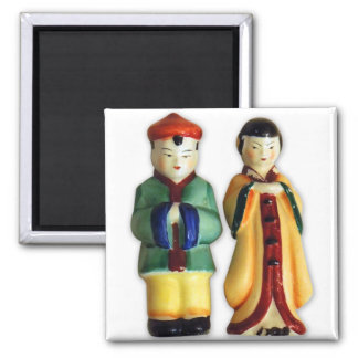 Vintage Retro Kitsch 50s Salt & Pepper Chinese Magnet