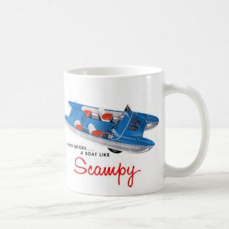 Vintage Retro Kitsch 50s Scampy Auto and Boat Coffee Mug