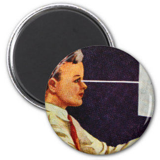 Vintage Retro Kitsch 50s Science Book Vision Eye Magnet