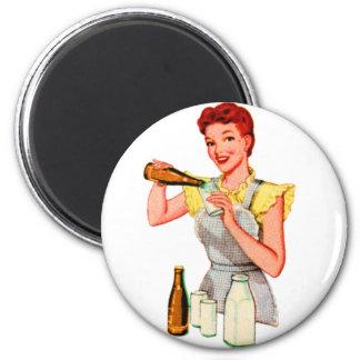 Vintage Retro Kitsch 50s Soda Root Beer and Milk Fridge Magnet