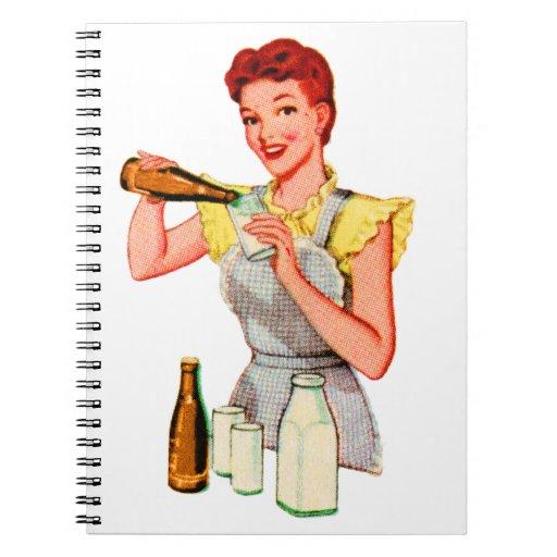 Vintage Retro Kitsch 50s Soda Root Beer and Milk Notebook