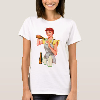 Vintage Retro Kitsch 50s Soda Root Beer and Milk T-Shirt