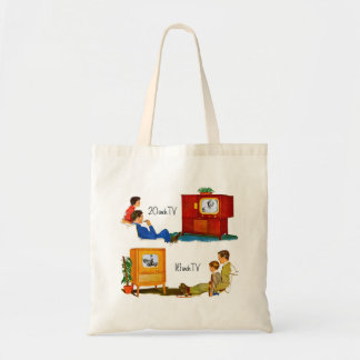 """Vintage Retro Kitsch 50s TV Sets 19"""" and 16"""" Tote Bag"""